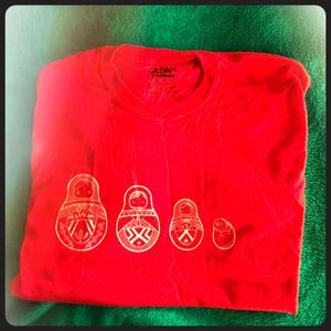 Red Russian Nest Doll T-Shirt Medium